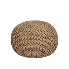 Knitted bézs fonott puff - LABEL51