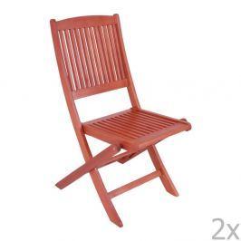 Stockholm összecsukható kerti szék, eukaliptuszból, 2 darab - ADDU