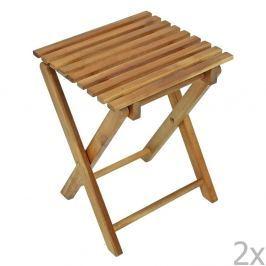 Tacoma összecsukható kerti szék, eukaliptuszból, 2 darab - ADDU