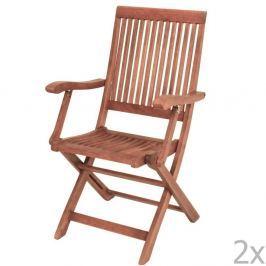 Nashville kerti szék, bangkirai fából, 2 darab - ADDU