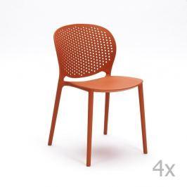Gavle narancssárga szék, 4 darab - Design Twist
