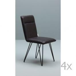 Elice fekete szék fekete lábszerkezettel, 4 darab - Design Twist
