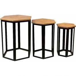 Homer 3 darabos asztalka készlet mangófa lappal - Støraa