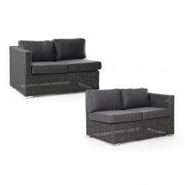 Brookline sötétszürke jobbos és balos kanapé elem, 2 darab - Brafab
