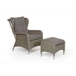 Colby bézs kerti fotel és lábtartó szett - Brafab
