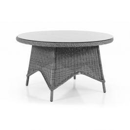 Paulina szürke kerti asztal, üveglappal, ⌀ 130 cm - Brafab