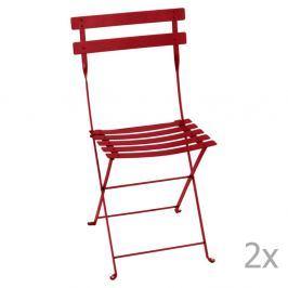 Bistro piros összecsukható kerti szék szett, 2 db-os - Fermob