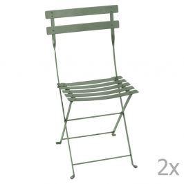 Bistro szürkészöld összecsukható kerti szék szett, 2 db-os - Fermob
