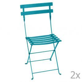 Bistro kék összecsukható kerti szék szett, 2 db-os - Fermob