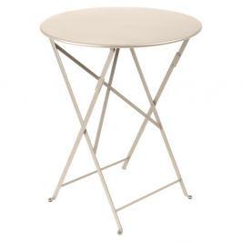 Bistro világos bézsszínű kerti asztalka, Ø 60 cm - Fermob
