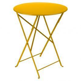 Bistro citromsárga kerti asztalka, Ø 60 cm - Fermob