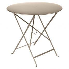 Bistro bézsszínű kerti asztalka, Ø 77 cm - Fermob