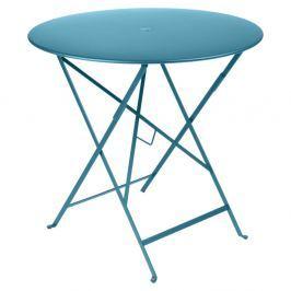 Bistro kék kerti asztalka, Ø 77 cm - Fermob