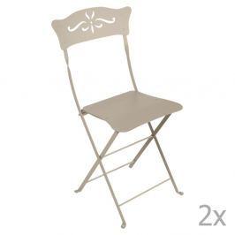 Bagatelle bézsszínű kerti szék szett, 2 db-os - Fermob