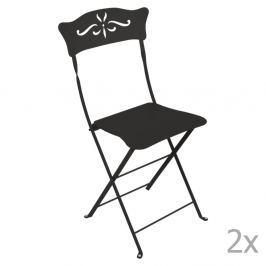 Bagatelle fekete kerti szék szett, 2 db-os - Fermob