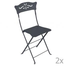 Bagatelle antracitszürke kerti szék szett, 2 db-os - Fermob