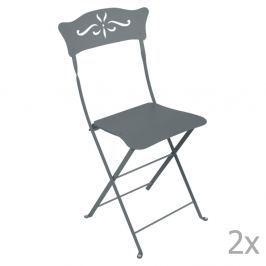 Bagatelle szürke kerti szék szett, 2 db-os - Fermob