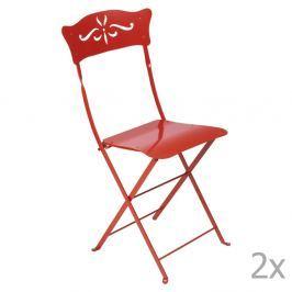 Bagatelle piros kerti szék szett, 2 db-os - Fermob