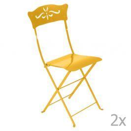 Bagatelle citromsárga kerti szék szett, 2 db-os - Fermob