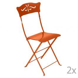 Bagatelle narancssárga kerti szék szett, 2 db-os - Fermob