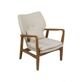 Woven bézs színű fotel szilfa konstrukcióval - Santiago Pons