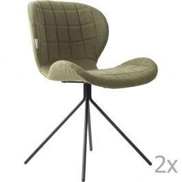 OMG zöld szék szett, 2 db-os - Zuiver