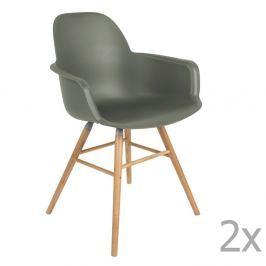 Albert Kuip zöld szék szett karfával, 2 db-os - Zuiver