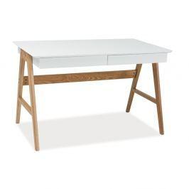 Scandic íróasztal tölgyfa szerkezettel, hossza 120 cm - Signal