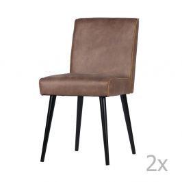 Revolution világosbarna bőr szék, 2 darab - De Eekhoorn