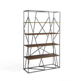 Messe könyvespolc diófából és rozsdamentes acélból - Ángel Cerdá