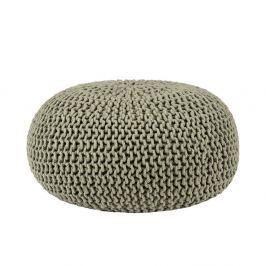 Knitted olívaszínű fonott puff, Ø 70 cm - LABEL51