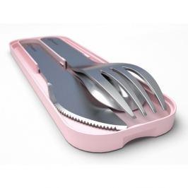 Zseb evőeszközkészlet ebédes dobozhoz rózsaszín alátéten - Monbento