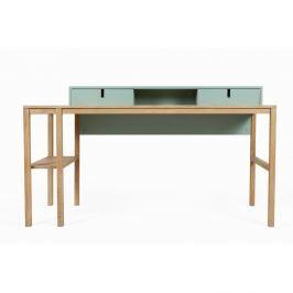 Sesi fenyőfa és tölgyfa íróasztal 2 fiókkal - Askala