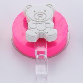Bear fúrás nélkül rögzíthető rózsaszín akasztó - ZOSO
