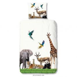 Jungle egyszemélyes gyermek ágyneműhuzat garnitúra tiszta pamutból, 140 x 200 cm - Muller Textiels