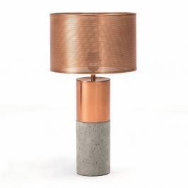 Asztali lámpa beton talppal réz színű részletekkel - Thai Natura