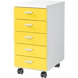 Rolling gurulós fiókos szekrény, sárga, 28 x 57 cm - Germania