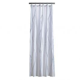 Flow fehér zuhanyfüggöny szürke mintával - Zone