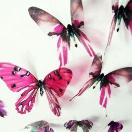Butterflies rózsaszín 3D hatású 18 darabos öntapadós matrica szett - Ambiance