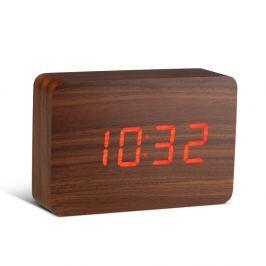 Brick Click Clock sötétbarna ébresztőóra piros LED kijelzővel - Gingko