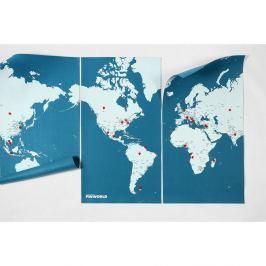 Pin World XL kék falitérkép, 198 x 124 cm - Palomar