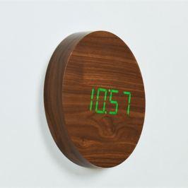 Square barna fali ébresztőóra zöld LED kijelzővel - Gingko
