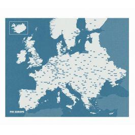Pin World kék Európa falitérkép, 100 x 80 cm - Palomar
