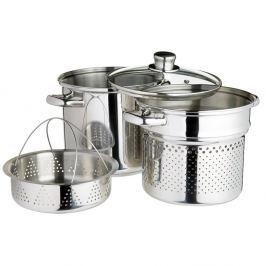 Italian fazék tésztaszűrővel és párolóbetéttel - Kitchen Craft