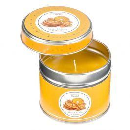 Aromagyertya lemez dobozban narancs és borostyán illatával, 32 órát ég - Copenhagen Candles