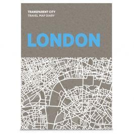 Transparent City London felülírható térkép - Palomar