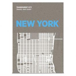 Transparent City New York felülírható térkép - Palomar
