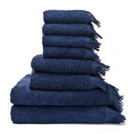 Bath 6 darab kék pamut törölköző és 2 darab fürdőlepedő - Casa Di Bassi