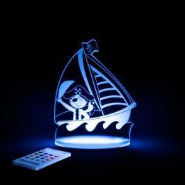 Pirate LED éjjeli lámpa gyerekeknek - Aloka