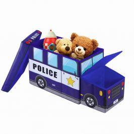 Police Car gyermek ülőke tároló rekesszel - JOCCA